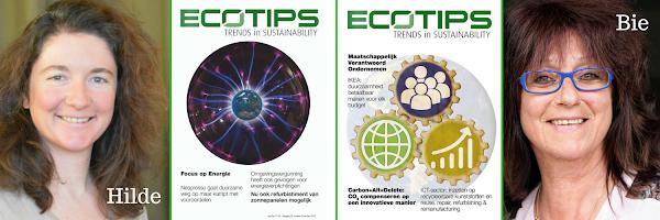 Contactpersonen ecoTips Hilde De Wachter - Bie Van Cleuvenbergen