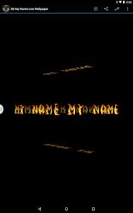 3D My Name Live Wallpaper screenshot 4