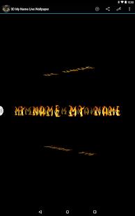 3D My Name Live Wallpaper Screenshot