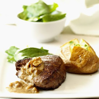 Steak with Jacket Potato and Sauce