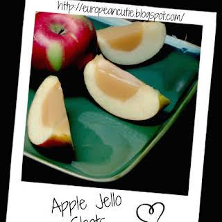 Apple Jello Shots.