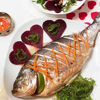 Baked Marinated Sea Bream for Valentine