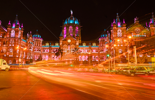 The Mumbai CST Railway Station in Lights by Haresh Patel - Buildings u0026 Architecture Public u0026 & The Mumbai CST Railway Station in Lights | Public u0026 Historical ...