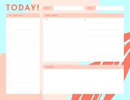 Today To Do - Daily Calendar item