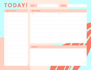 Today To Do - Planner Template