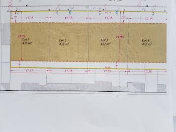 Terrain à bâtir 433 m2