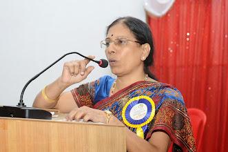 Photo: Dr. M. Savithri - Organizing Secreatary addressing the delegates