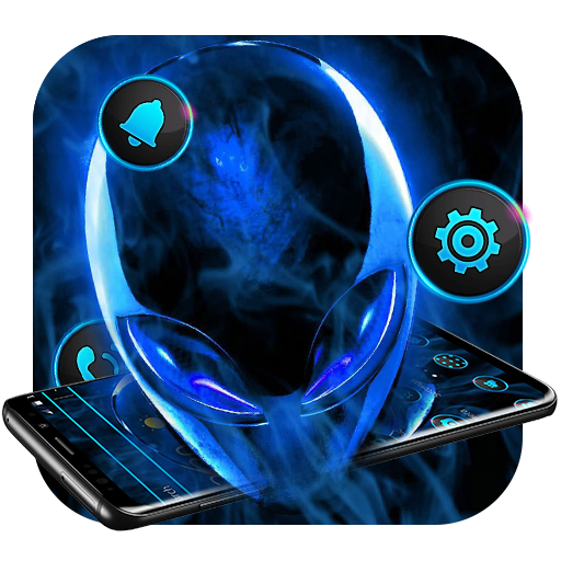 Blue Science Alien Tech Theme Icon