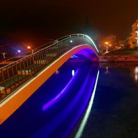 Bridge by Dalibor Jud - Buildings & Architecture Bridges & Suspended Structures ( most, croatia, hrvatska, crikvenica, dubracina, kastel, dubračina, kaštel, potok, night photography )