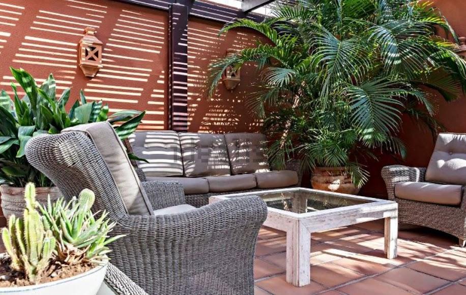 Una terraza para relajarse. Foto de Idealista.
