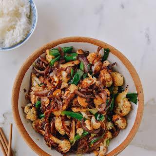 Spicy Roasted Cauliflower Stir-Fry.
