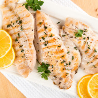 Grilled Rockfish with Garlic and Basil
