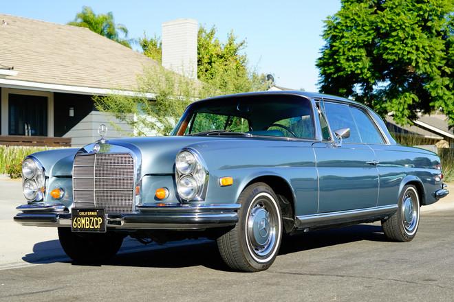 1968 Mercedes Benz 280SE Coupe Hire Anaheim