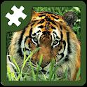 Wild animals puzzle: Jigsaw icon