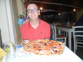 Photo: We went out for pizza that night ...
