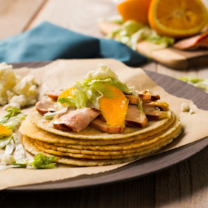 Soft Pork Tacos with Orange Adobo