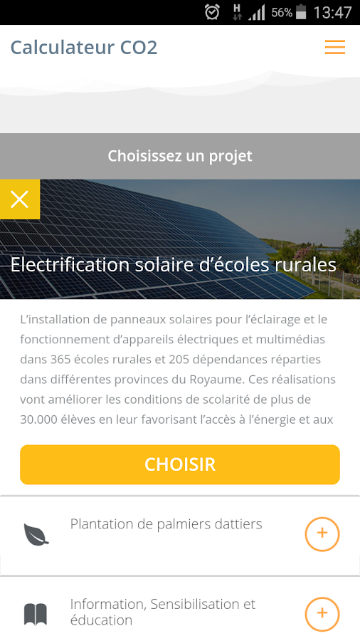 Calculateur CO2- screenshot