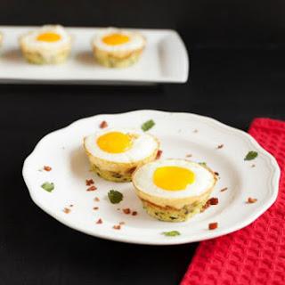 Egg Bacon Zucchini Nests.