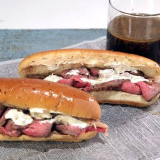French Dip Sandwich with Horseradish Sauce.
