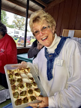 "Photo: Judy with her ""Secret Receipe"" Develed Eggs!"