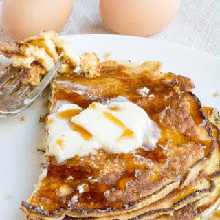 4 Ingredient Flourless Vanilla Ricotta Pancakes.