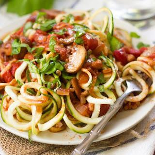 Vegan Walnut & Mushroom Zucchini Noodles