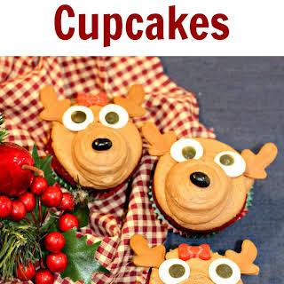 Easy Reindeer Cupcakes.