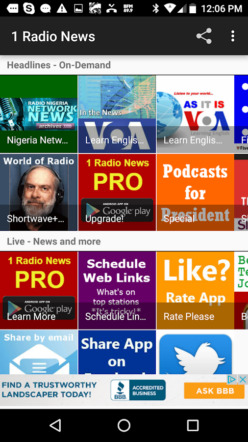 News Radio - 1 Radio News- screenshot