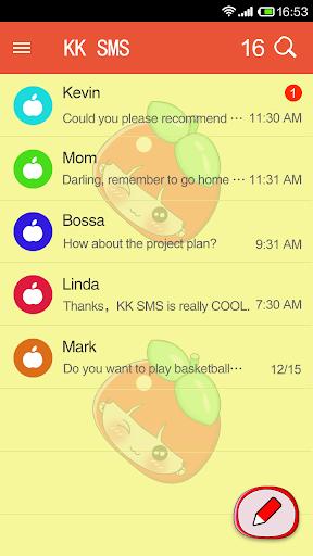KK SMS Apple Girl Theme