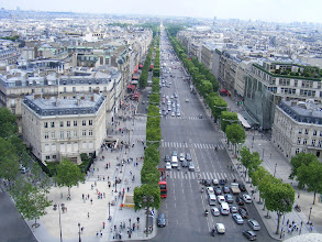 Photo: This view from the top of the Arc down the Champs Elysees, arguably the world's most famous thoroughfare.