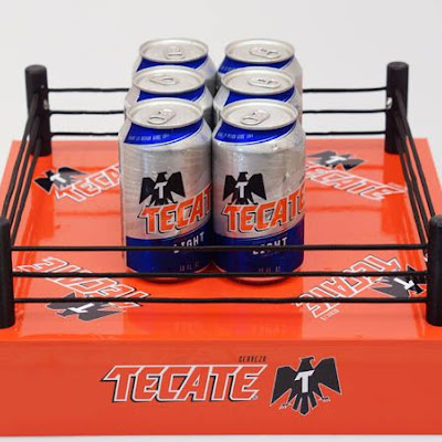 3d printing gallery image of miniature models for a tecate brand activation event