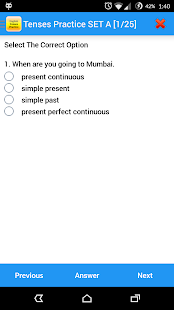 English Tenses Practice Screenshot