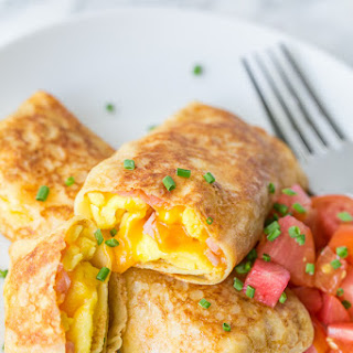 Egg, Ham and Cheese Crepe Pockets