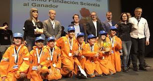 La representación del Liceo Erasmus en los Premios Fundación Scientia, como muestra de su apuesta por la ciencia.