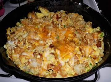 Potatoe, Bacon, and Sour Cream Frittata