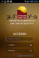 Screenshot of Prenota Campi