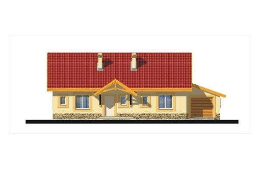 Gienia energo+ wersja C bez garażu strop Teriva - Elewacja przednia