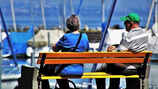 Para, Senior, Relaxation, Lake, Male