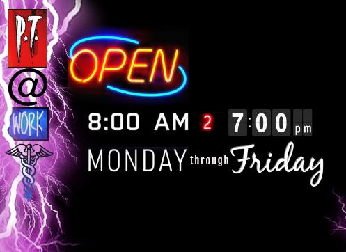 8:00AM to 7:00PM Monday thru Friday