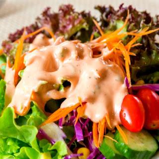 Vegan Thousand Island Salad Dressing.