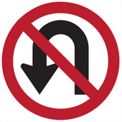 sign for no u-turn
