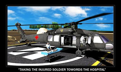 軍のヘリコプター救急車
