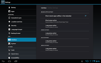 Photo: We can customise the softkeys a bit.