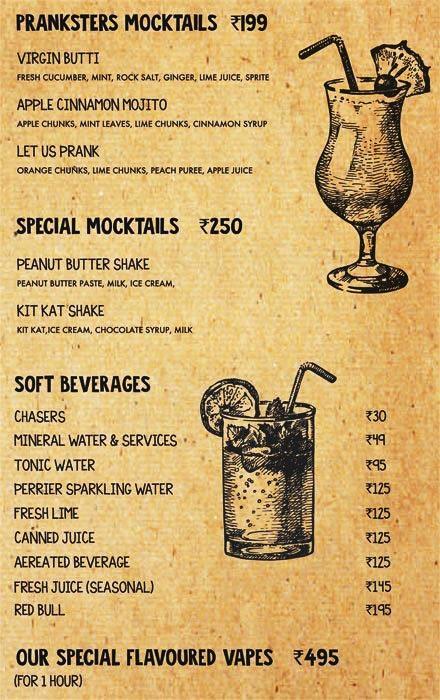 Prankster menu 8