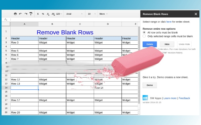 Remove Blank Rows And More Google Sheets Add On
