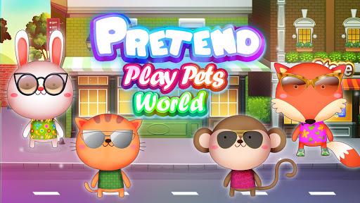 Pretend Play Pets World : Meet town life  screenshots 5