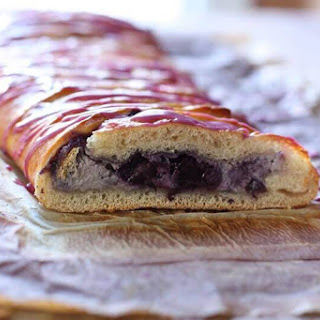 Easy Holiday Braided Breakfast Bread with Wild Blueberry Filling