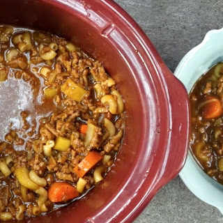 Hungry Man's Frugal Hamburger Soup