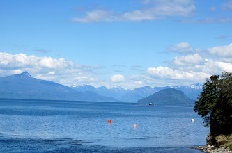 Photo: Day 4 - This is likely Lake Llanquihue in the Chilean Lake District