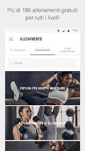 Nike Training Club - Workout & programmi fitness Screenshot